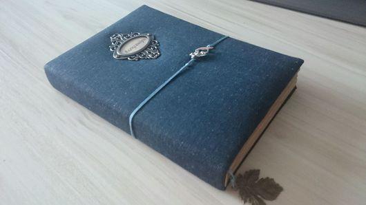 """Блокноты ручной работы. Ярмарка Мастеров - ручная работа. Купить Книга для записей """"Джинсовая"""". Handmade. Тёмно-синий, скрапукрашения"""