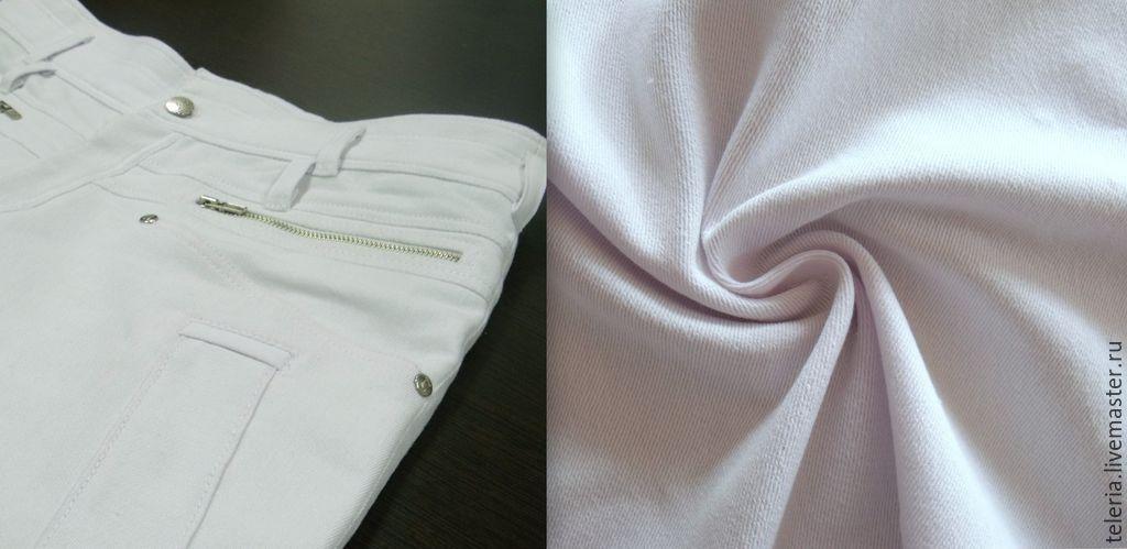 ткань джинсовая белая
