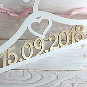 Свадебный салон handmade. Livemaster - original item Wooden wedding hanger with date. Handmade.