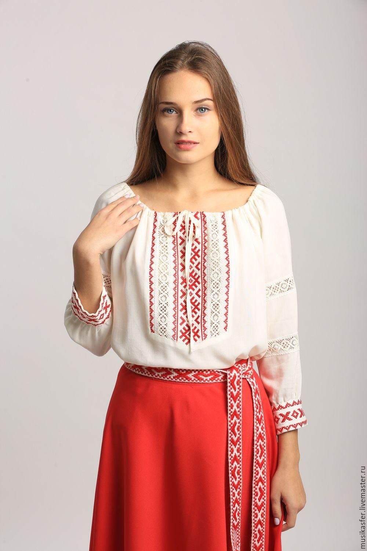 Русская блузка вышивка