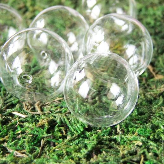 Для украшений ручной работы. Ярмарка Мастеров - ручная работа. Купить ПРОЗРАЧНЫЕ пузырьки 25мм крупные бусины лэмпворк. Handmade.