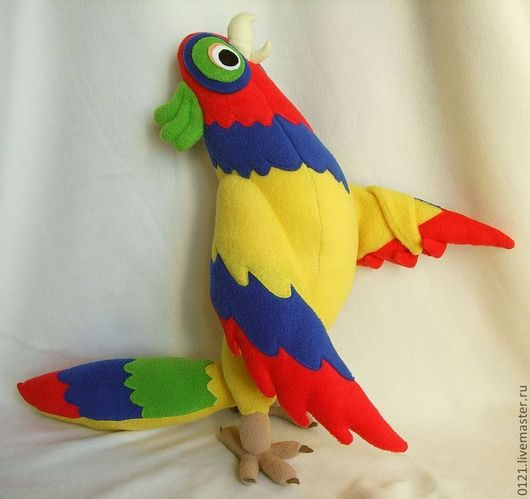 Игрушки животные, ручной работы. Ярмарка Мастеров - ручная работа. Купить Попугай - друг Динозубика. Handmade. Попугай, игрушка по рисунку