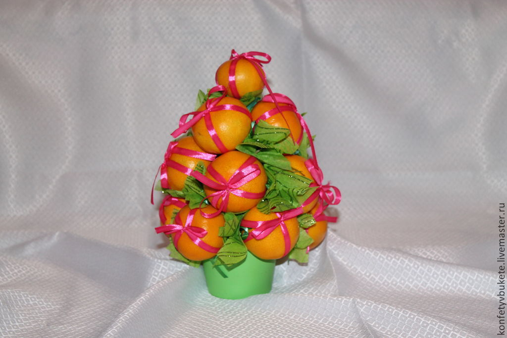 Букет из мандаринов пошаговое фото