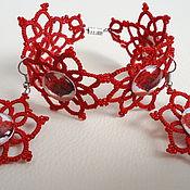 Bead bracelet handmade. Livemaster - original item Earrings and bracelet