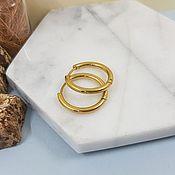 handmade. Livemaster - original item Shvenzy rings (bagels) 21h2,5 mm color gold (4531). Handmade.