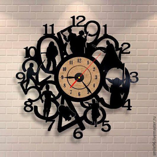 """Часы для дома ручной работы. Ярмарка Мастеров - ручная работа. Купить Часы из пластинки """"Star Wars"""". Handmade. Star wars"""