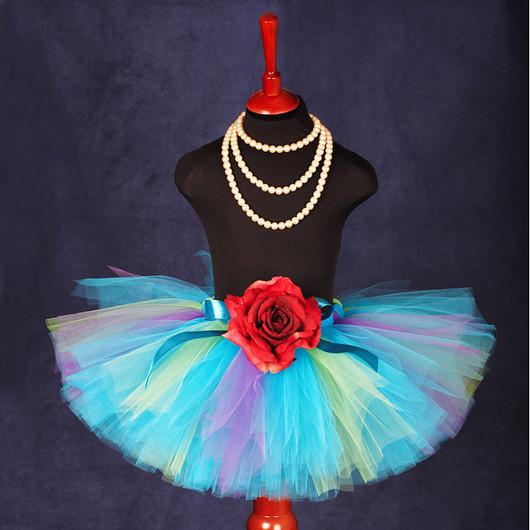 """Одежда для девочек, ручной работы. Ярмарка Мастеров - ручная работа. Купить """"Бирюзовая мечта"""" юбка-пачка из фатина. Handmade. Юбка"""