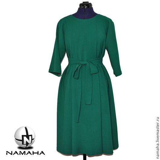 Платья ручной работы. Ярмарка Мастеров - ручная работа. Купить Платье офисное тёплое из шерсти. Handmade. Платье деловое платье
