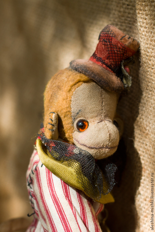 Мишки Тедди ручной работы. Ярмарка Мастеров - ручная работа. Купить Франсуа. Handmade. Хаки, полосатый, шерстепон
