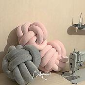 Текстиль ручной работы. Ярмарка Мастеров - ручная работа Подушки узлы, узелки, мягкие в детскую. Handmade.