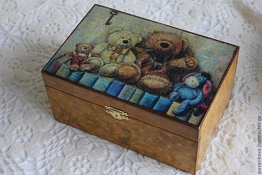 """Детская ручной работы. Ярмарка Мастеров - ручная работа. Купить ШКатулка """"Друзья детства - 2"""". Handmade. Мамины сокровища, с медведями"""