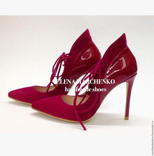 Обувь ручной работы. Ярмарка Мастеров - ручная работа. Купить Туфли. Handmade. Фуксия, туфли женские, туфли на заказ
