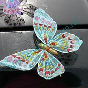 Свадебный салон ручной работы. Ярмарка Мастеров - ручная работа Бабочки фатин 18 см на свадебное авто. Handmade.