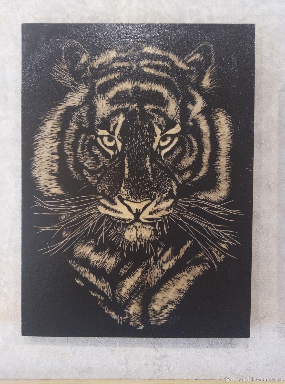 Картины: тигр, Животные, Долинск, Фото №1