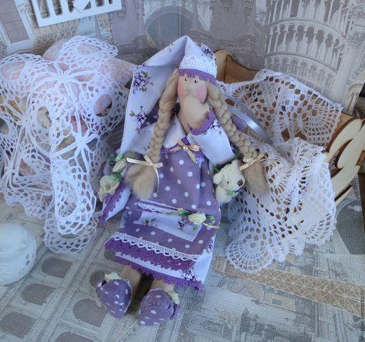 """Куклы Тильды ручной работы. Ярмарка Мастеров - ручная работа. Купить Сонный Ангел """"Лавандовые сны"""" интерьерная текстильная кукла тильда. Handmade."""