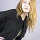 Элегантное,утонченное пальто из черного каракуля