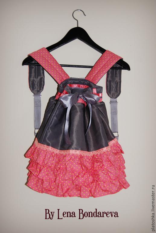 """Рюкзаки ручной работы. Ярмарка Мастеров - ручная работа. Купить Рюкзак """"Pink"""". Handmade. Коралловый, школьный рюкзак, с рюшами"""