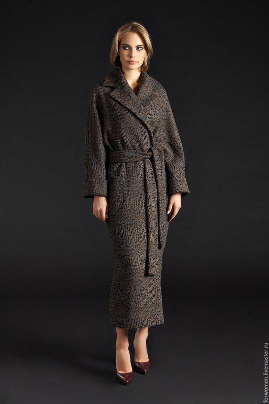 Верхняя одежда ручной работы. Ярмарка Мастеров - ручная работа. Купить Длинное пальто-халат, разные цвета. Handmade. Комбинированный