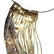 """Колье ручной работы. Ярмарка Мастеров - ручная работа Галстук-колье """"GOLDY"""". Handmade."""