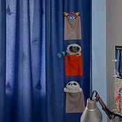 Для дома и интерьера ручной работы. Ярмарка Мастеров - ручная работа Шторы для детской с карманами. Handmade.