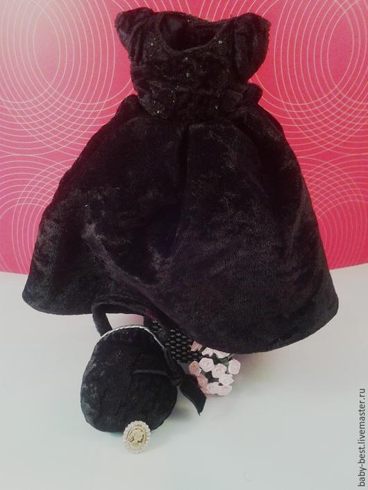 Одежда. Ярмарка Мастеров - ручная работа. Купить Настоящее театральное платье для куклы с сумочкой. Handmade. Платье, аксессуары для кукол, разноцветный