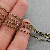 Материалы для творчества handmade. Livemaster - original item Chain 2 mm thin brass Bronze (art. 1646). Handmade.
