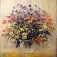 Картины цветов ручной работы. Летний букет с ромашками.. Евдокия- шерстяная акварель. Интернет-магазин Ярмарка Мастеров. Картина в подарок