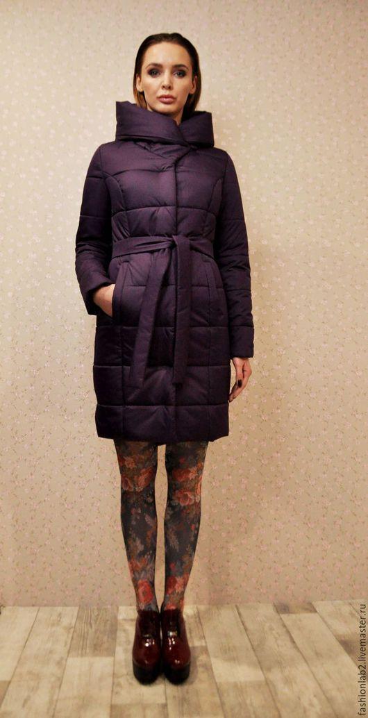 Верхняя одежда ручной работы. Ярмарка Мастеров - ручная работа. Купить Пальто утепленное с капюшоном на заказ в любом цвете. Handmade.