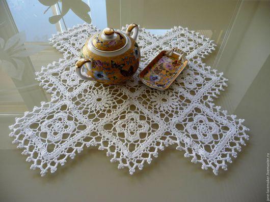 Текстиль, ковры ручной работы. Ярмарка Мастеров - ручная работа. Купить Салфетка крючком ажурная. Handmade. Белый, ажурная салфетка