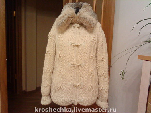 Outer Clothing handmade. Livemaster - handmade. Buy Woolen knitted jacket 'Spit'..Jacket, warm jacket, knitted jacket, handmade