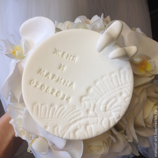 Свадебные аксессуары ручной работы. Ярмарка Мастеров - ручная работа. Купить Тарелочка для колец 54. Handmade. Белый, голубки