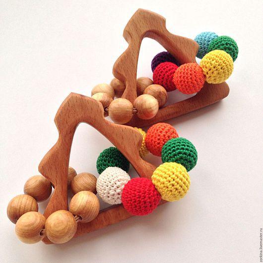 Развивающие игрушки ручной работы. Ярмарка Мастеров - ручная работа. Купить Новогодний подарок малышу - грызунок-погремушка Нарядная елочка. Handmade.