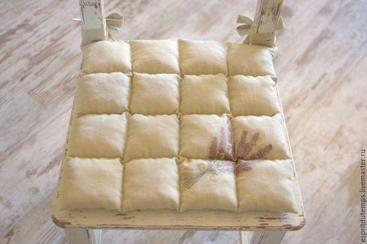 """Текстиль, ковры ручной работы. Ярмарка Мастеров - ручная работа. Купить Подушка на стул в стиле Прованс """"Bouquet de lavande"""". Handmade."""