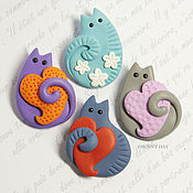 Brooches handmade. Livemaster - original item Delicate studs - pendants, brooches, earrings. Handmade.