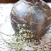 Для дома и интерьера handmade. Livemaster - original item Vase-Symphony-2 Decoupage. Vases. Ceramics. For dried flowers.. Handmade.