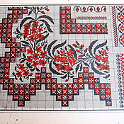Винтаж handmade. Livemaster - original item your booking of a Vintage pattern for embroidery 19th century - 5 sheets for 500 rubles.. Handmade.