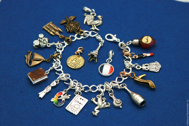 Франция браслет (19 кулонов)