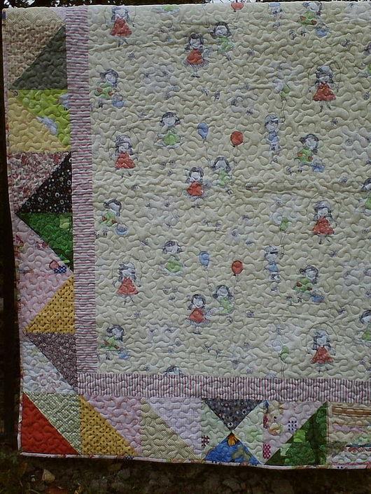 """Пледы и одеяла ручной работы. Ярмарка Мастеров - ручная работа. Купить Лоскутное детское одеяло-покрывало """"Утренник!"""". Handmade. пэчворк"""