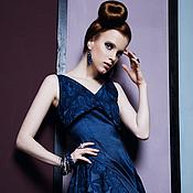 Одежда ручной работы. Ярмарка Мастеров - ручная работа Платье Сапфир. Handmade.