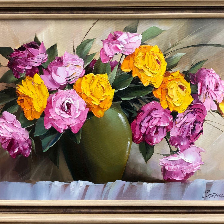 Картина «Букет цветов» 40х60, Картины, Москва,  Фото №1