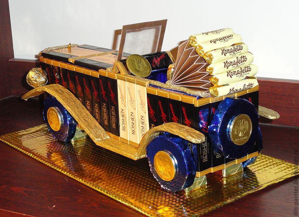 Машина из конфет своими руками фото