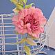 """Броши ручной работы. Роза """"Scintillio"""". Натуральный шелк. 'Poli-Flower'   (Надежда). Ярмарка Мастеров. Розовый, подарок женщине"""