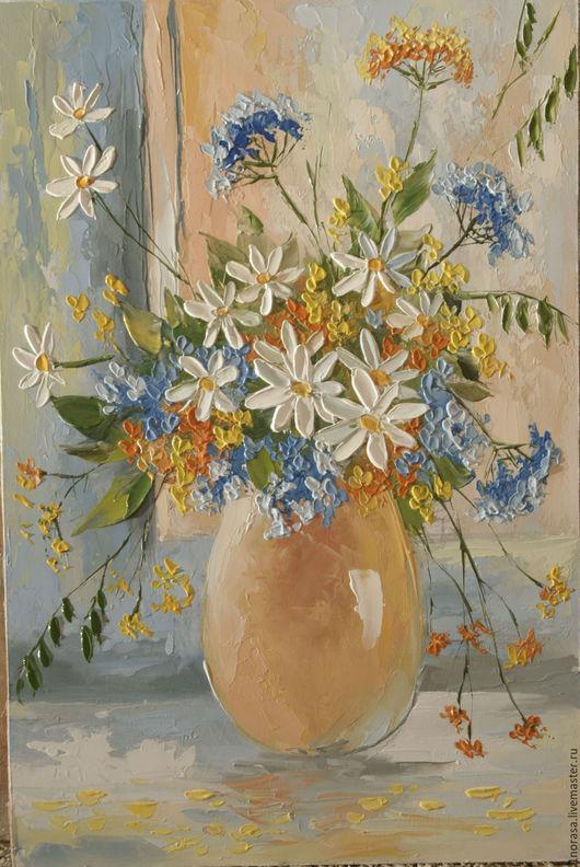 Картины цветов ручной работы. Ярмарка Мастеров - ручная работа. Купить цветочный мотив. Handmade. Комбинированный, картина в подарок