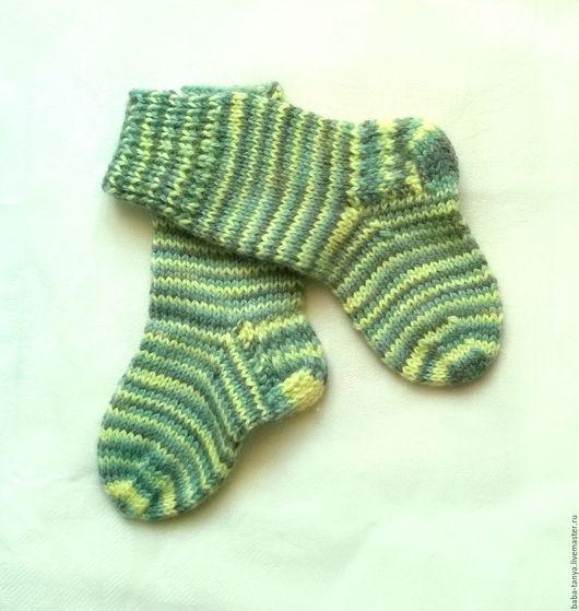 """Носки, гольфы, гетры ручной работы. Ярмарка Мастеров - ручная работа. Купить Детские вязаные носки """"Топотушки"""". Handmade. Комбинированный"""