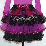 Работы для детей, handmade. Livemaster - original item 4-tier skirt made of eurofatin. Handmade.