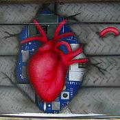"""Дизайн и реклама ручной работы. Ярмарка Мастеров - ручная работа аэрография на ноутбуке """"сердце"""". Handmade."""