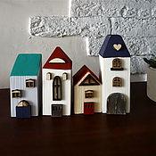Материалы для творчества handmade. Livemaster - original item Set of 3 houses for self-assembly of houses. Handmade.