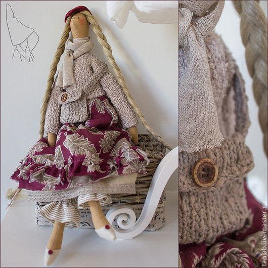 Куклы Тильды ручной работы. Ярмарка Мастеров - ручная работа. Купить Мартина - кукла тильда в бохо стиле. Handmade. холлофайбер