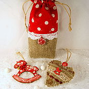 Подарки к праздникам ручной работы. Ярмарка Мастеров - ручная работа «Лошадки и горошки» набор с ароматом ёлки. Handmade.