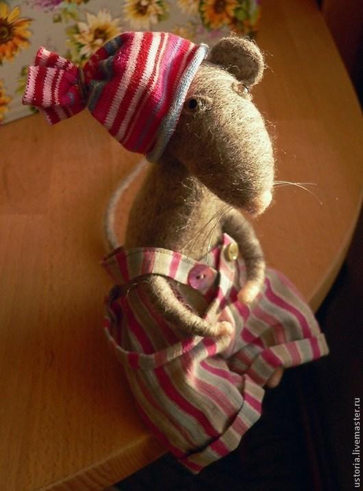 Игрушки животные, ручной работы. Ярмарка Мастеров - ручная работа. Купить Крыс Тимофей. Handmade. Серый, крыса игрушка, мыши